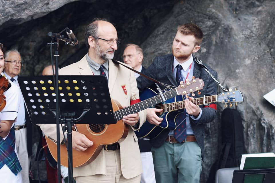 Musicians at Grotto mass 1